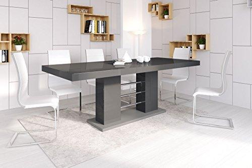 Esstisch linosa 2 tisch ausziehbar in super hochglanz for Acryl tisch