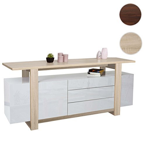 Kommode hwc b51 sideboard highboard schrank 3d struktur for Sideboard 80 x 40