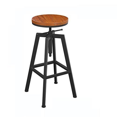 Lying Retro Barhocker, Eisen Hocker Heben und Unten Barhocker Bar Stuhl Vordere Stuhl Cafe Bar Bar Stuhl Hohe Hocker Kann Auf und Ab 65-85cm finden