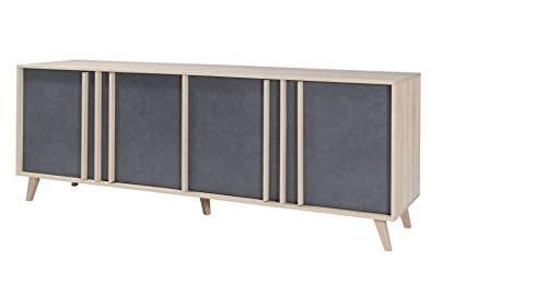 sideboard kommode farbe sonoma eiche grau breite. Black Bedroom Furniture Sets. Home Design Ideas