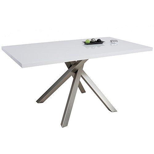 tisch paris 140 x 80 cm esszimmertisch esstisch k chentisch hochglanz wei esszimmerst. Black Bedroom Furniture Sets. Home Design Ideas