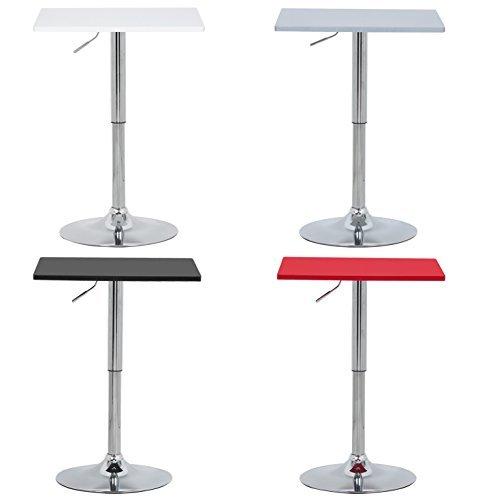 WOLTU #416 Bartisch Bistrotisch , Partytisch , Design Tisch mit Trompetenfuß , drehbare Tischplatte aus robustem MDF , höhenverstellbar , Dekor , Farbwahl