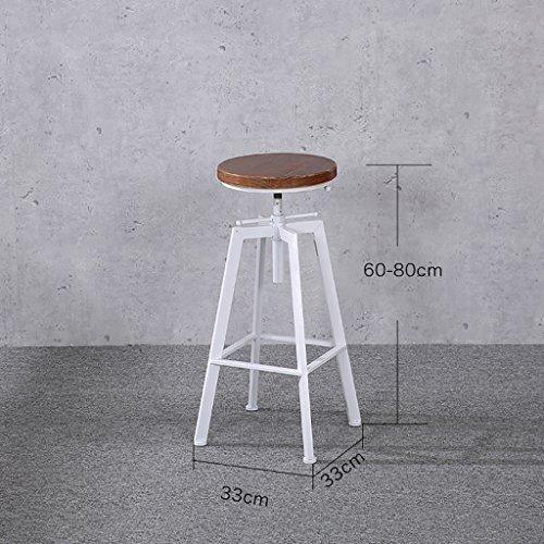 barhocker eiche American Iron LOFT bar industriellen stil barhocker kreative retro persönlichkeit rotierenden lift barhocker (größe: 33 * 33 * 60-80 cm) barhocker holz ( Farbe : B )
