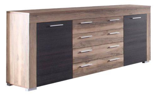 trendteam wohnzimmer sideboard schrank wohnzimmerschrank boom 176 x 79 x 40 cm in nussbaum. Black Bedroom Furniture Sets. Home Design Ideas