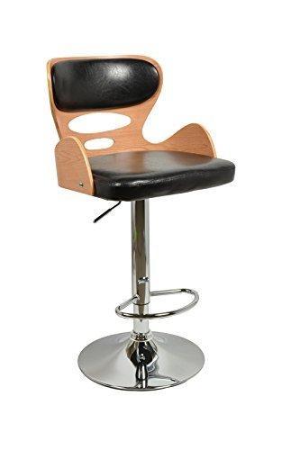 ts ideen 1 x barhocker retro design chill lounge barsessel stuhl holz glanz schwarz. Black Bedroom Furniture Sets. Home Design Ideas