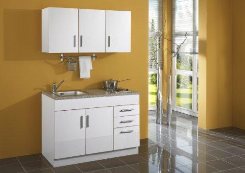 Held Möbel 978.6513 Single-Küche 120 mit 2-er E-Mulde, weiß