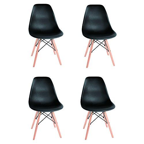 4x Stuhl Retro Lounge aus Holz Esszimmer Set Tisch Stühle