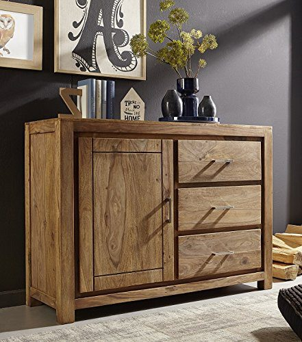 Anrichte-Kommode-Sideboard-125cm-Austin-Sheesham-massiv-Holz-0
