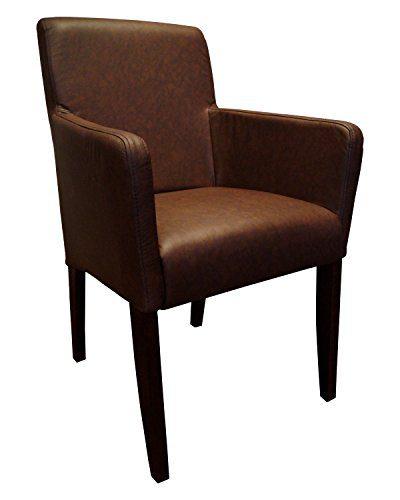 braun echtleder st hle david arm lederst hle mit. Black Bedroom Furniture Sets. Home Design Ideas