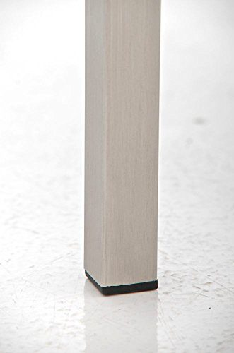 CLP 4er Edelstahl Sitzbank LAMEGA, 160 x 40 cm, geposltert, Kunst-Leder Bank modern für Esszimmer, Küche, Flur, Gastro