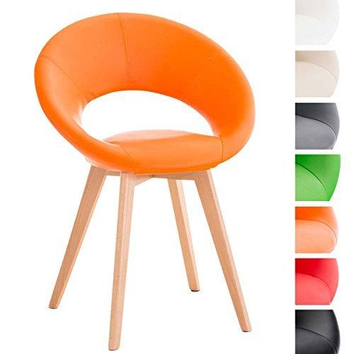 Clp design polsterstuhl timm mit kunstlederbezug for Polsterstuhl design