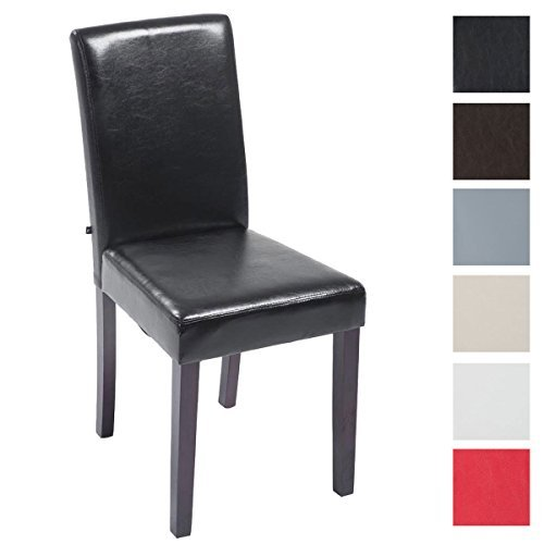 CLP Esszimmer-Stuhl INA, Bezug Kunstleder, Sitzhöhe 47 cm Braun, Holzfarbe: hellbraun