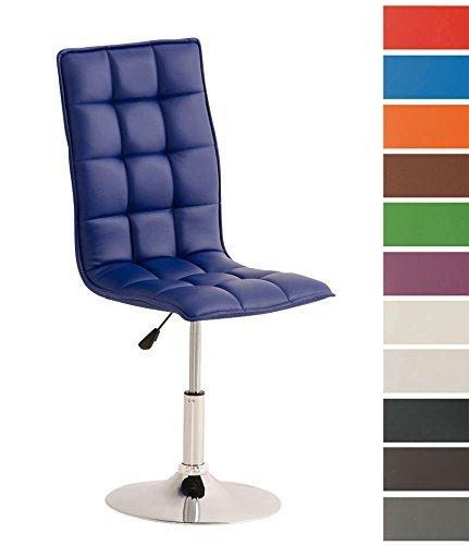 CLP Esszimmer-Stuhl PEKING, Lounge-Sessel modern, Sitzhöhe verstellbar 40-54 cm, Sitzfläche drehbar Blau
