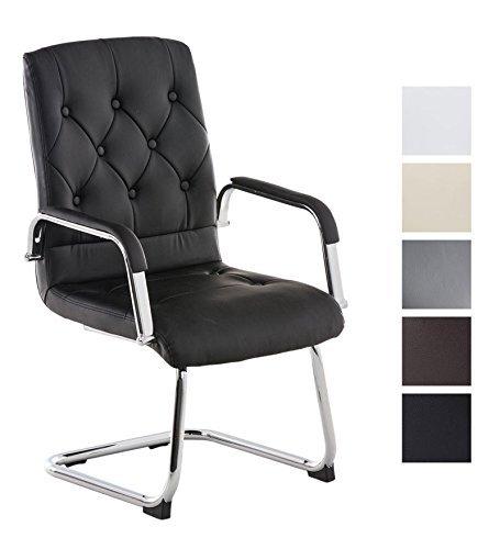 CLP Freischwinger-Stuhl mit Armlehne CLAIRE, Besucherstuhl / Konferenzstuhl mit gepolsterter Sitzfläche, FARBWAHL