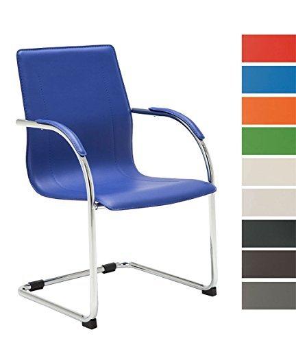 CLP Freischwinger-Stuhl mit Armlehne MELINA V2, Konferenzstuhl / Besucherstuhl mit gepolsterter Sitzfläche