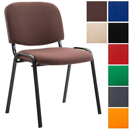 CLP Stapelstuhl KEN V2 mit Stoff-Bezug, stapelbarer Besucherstuhl - preiswert, robust, einfach bequem, gepolsterter Konferenzstuhl in verschiedenen Farben