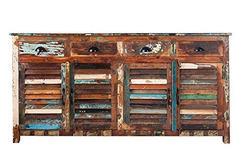 DuNord Design Sideboard Kommode MADRAS 180cm Recycling Massivholz Massiv Holz Vintage Shabby
