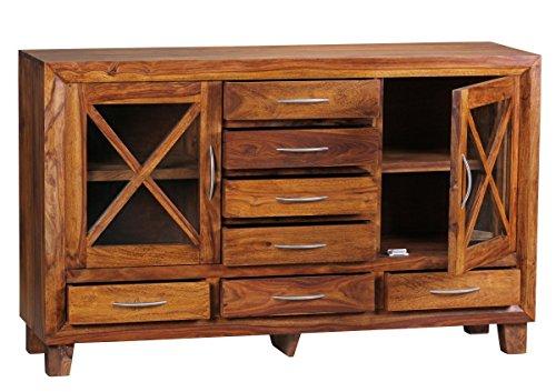 FineBuy Sheesham Sideboard Massiv 150 x 45 x 90 cm Massivholz