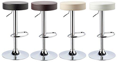 """Kronenburg 2 x Barhocker """"Classic"""" - 360° drehbar und höhenverstellbar - freie Farbwahl"""