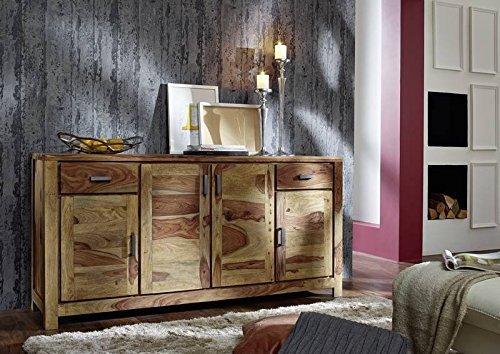 Palisander massiv Holz Möbel geölt natur Sideboard Sheesham massiv Möbel Massivholz braun Buddha #123
