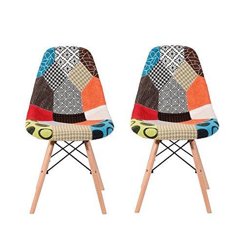 Panana 2er set wohnzimmerstuhl gepolsterter stuhl for Esszimmer retro design