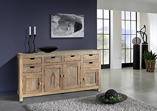 Sheesham Holz massiv Sideboard Massivmöbel Nature Grey #84