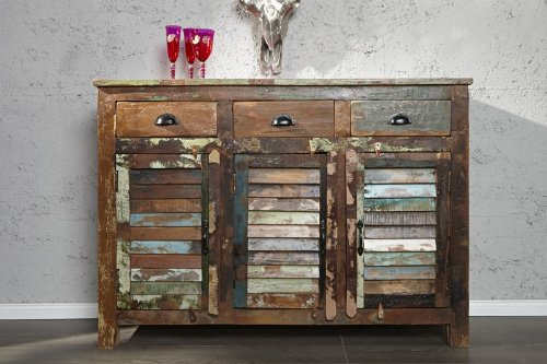 Sideboard MADRAS 125 cm aus Recyclingholz