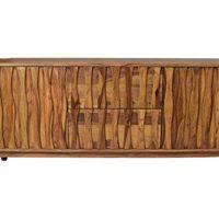 Sideboard-Retro-Plasma-Mid-Century-Massivholz-Sheesham-Lowboard-Strukturierte-Front-0