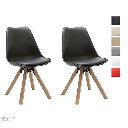 stuhl esszimmerst hle k chenst hle 2 er set farbauswahl k chenstuhl mit holzbeine sitzkissen. Black Bedroom Furniture Sets. Home Design Ideas