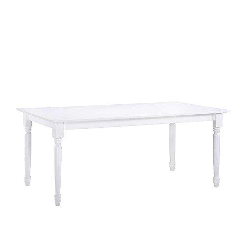 Tisch mit gedrechselten Füßen Weiß Pharao24