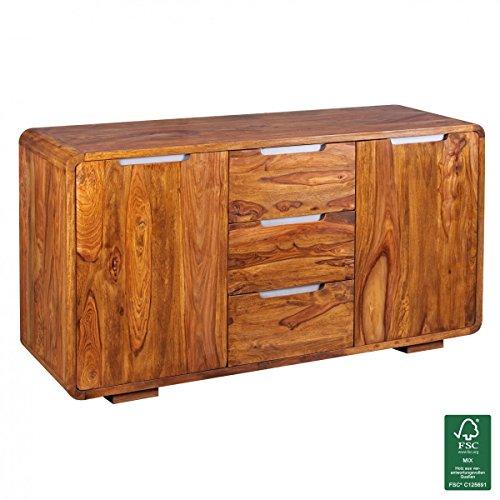 WOHNLING-Sideboard-Massivholz-Kommode-145-x-45-cm-0