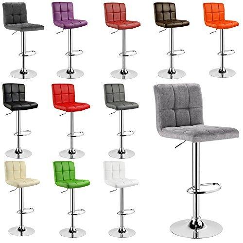 WOLTU® 1 x Barhocker Barstuhl Tresenhocker Stuhl drehbar und höhenverstellbar Tresen Hocker Kunstleder #501