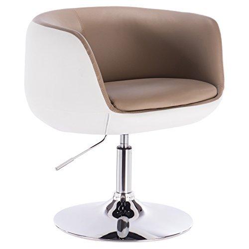 WOLTU® 1 x Barsessel Loungesessel mit Armlehne verchromter Stahl Kunstleder 2 farbig #827