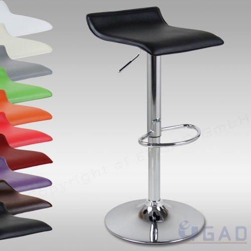 WOLTU #111-a 1 x Barhocker Design Bar Hocker mit Griff , stufenlose Höhenverstellung , verchromter Stahl , Antirutschgummi , pflegeleichter Kunstleder , gut gepolsterte Sitzfläche , 10 Farben