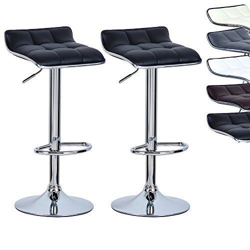 WOLTU #363 Barhocker Barstuhl Tresenhocker, Kunstleder, gepolstert, verchromter Stahl, Antirutschgummi,gut gepolsterte Sitzfläche,Neu Design