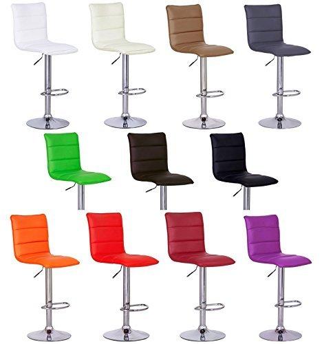 WOLTU #372 1 x Barhocker Design Bar Hocker, verchromter Stahl , stufenlose Höhenverstellung ,Antirutschgummi , pflegeleichter Kunstleder , gut gepolsterte Sitzfläche , 11 Farben