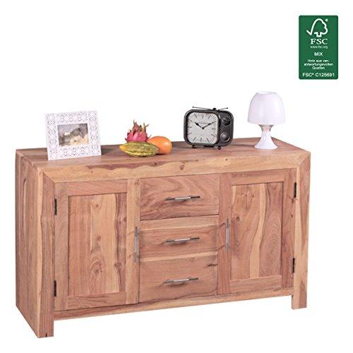 Wohnling-Sideboard-Massivholz-Kommode-118-cm-3-Schubladen-2-Tren-Design-Highboard-Landhaus-Stil-natur-Echt-Holz-Schubladenkommode-Natur-Produkt-Flur-Mbel-Aufbewahrung-Dielen-Mbel-braun-0