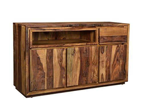 Woodkings® Sideboard Blackdale 3türig Massivholz Palisander, Anrichte Design Kommode Schubladen, Sheesham Massiv Holzmöbel