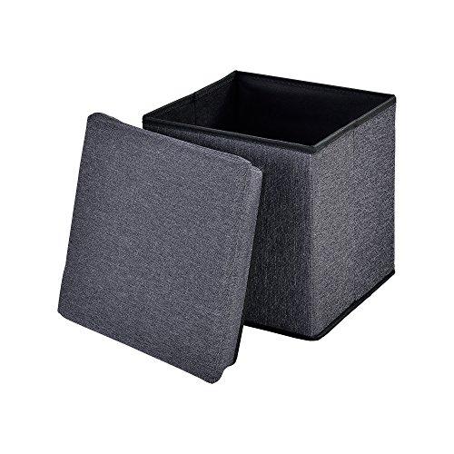 [en.casa] Faltbare Sitzhocker (verschiedene Größen) zugleich Aufbewahrungsbox - verschiedene Farben und Größen