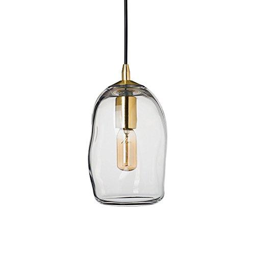 CASAMOTION Mini Pendelleuchte Hängeleuchte aus Mundgeblasenem Glas Hängelampe Moderne Stil Transparent E27 40W