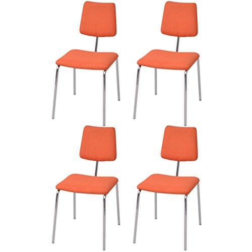 Festnight 4er-Set Ergonomisch Essstuhl Esszimmerstuhl Esszimmerstühle Stahlrahmen Küchenstuhl Sitzgruppe 41x52x82cm für Küche Esszimmer - Grau