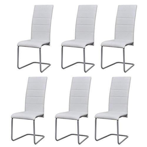 Festnight Esszimmerstuhl Freischwinger Schwingstuhl Küchenstuhl 6er Set Stuhl Set