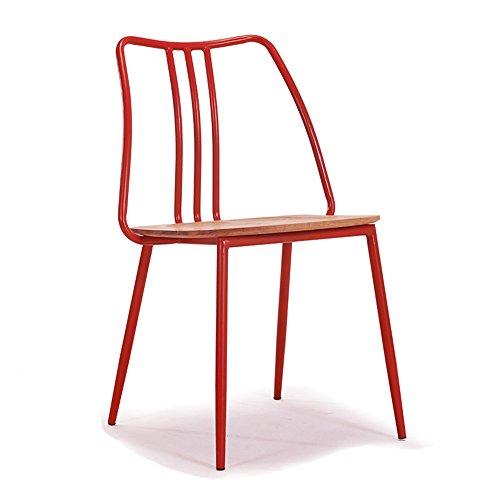XIAOLIN- Modernes minimalistisches Stuhl-festes Holz-Retro- Eisen, das Stuhl-Stuhl-hintere Café-Tabellen und Stühle speist