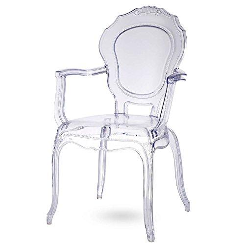 Broxster Stühle | Design Stuhl für Küche - Esszimmer - Wohnzimmer | Kristallklar Material | Brokant - Damiware