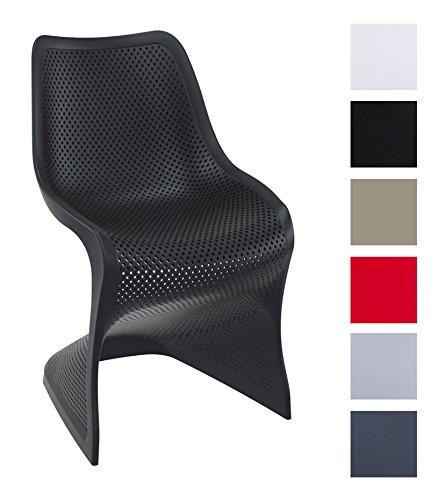 CLP Design Kunststoff-Stuhl BLOOM, XXL Gartenstuhl, Freischwinger Stuhl belastbar bis 160 kg