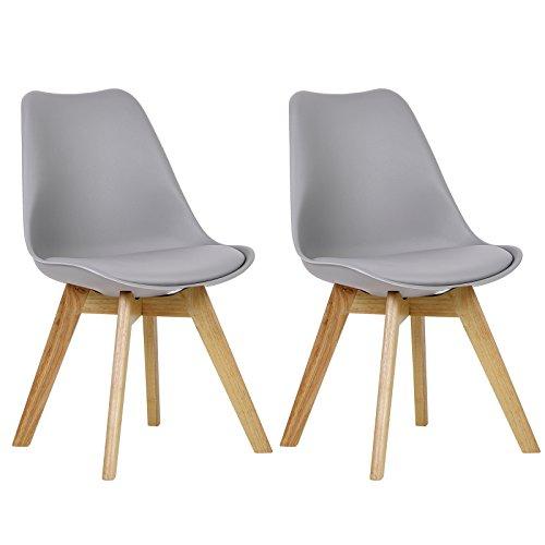 WOLTU 2 x Esszimmerstühle 2er Set Esszimmerstuhl Design Stuhl Küchenstuhl Holz, Neu Design #879