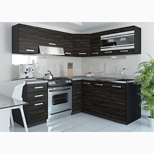 JUSTyou Torino IV L-Küche Küchenzeile Küchenblock 190x170 cm Länge Griffvariante I