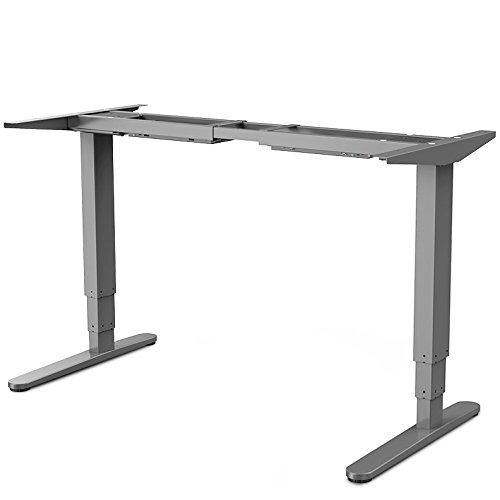 FLEXISPOT E5S Höhenverstellbarer Schreibtisch Elektrisch höhenverstellbares Tischgestell, 3-fach-Teleskop, passt für alle gängigen Tischplatten. Mit Memory-Steuerung und Softstart/-stop.