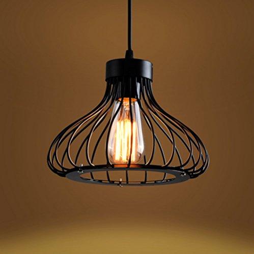 Vintage Industrie Beleuchtung Metall Loft Pendelleuchte Retro-Deckenleuchte Vintage Lampe Shade Loft Coffee Bar Küchenhänge pendelleuchte (Schwarz)