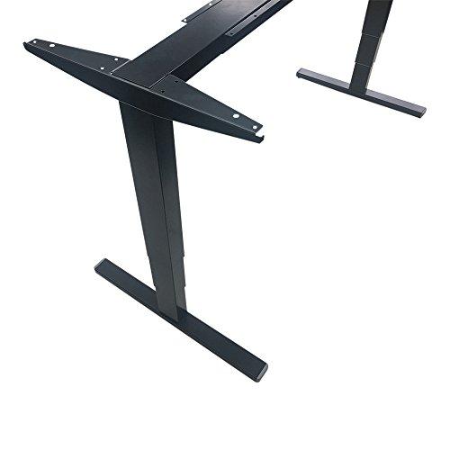 eLift Pro - Professionelles Tischgestell elektrisch - Schwarz RAL9011 - 100% MADE IN BADEN-WÜRTTEMBERG - Stufenlos höhenverstellbar - Soft Start/Stop - 140-200cm Breite. BOSCH Motoren. 3 Jahre Garantie